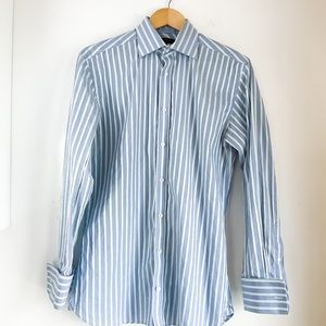TED BAKER Light Blue Striped Button Down